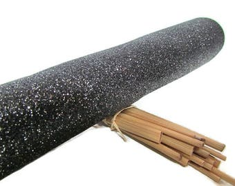 Coupon 20 x 22 cm leather synthetic glitter - 12 colors - 200