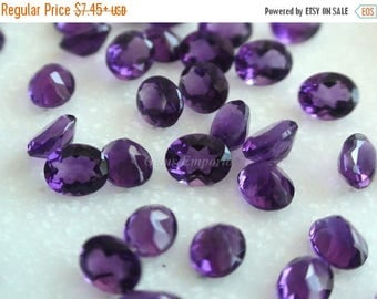 ON SALE Amethyst 5x4, 4x3 MM Faceted Oval. Dark Purple Color and Fine Quality / February Birthstone / African Origin Price per lot (4 pieces