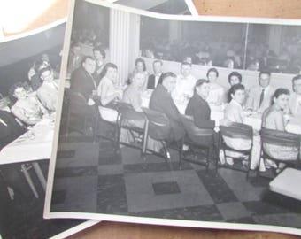 2 Vintage Photographs Dinner Dance Club 1950s