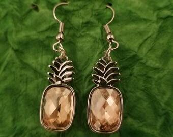 Swarovski pineapple earrings