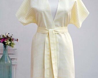 Peshtemal Woman Robe  | 100% Turkish Cotton Beach Robe