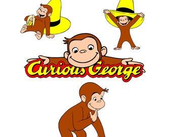 curious george svg, svg curious george, monkey svg, svg monkey, baby svg, toddler svg, kids svg, birthday svg, svg baby, svg toddler, svg