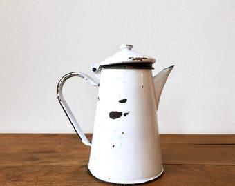 Vintage Enamelled Teapot