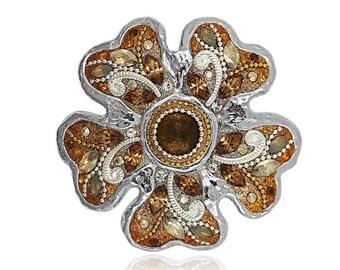 Amber Blossom Pin