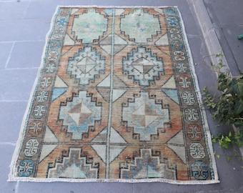 Oushak Rug, Aztec Rug, Bohemian Rug, FREE SHIPPING, Anatolian Rug, 3.7 x 5.1 Feet, Floor Rug, Area Rug, Vintage Anatolian Rug, No 1273