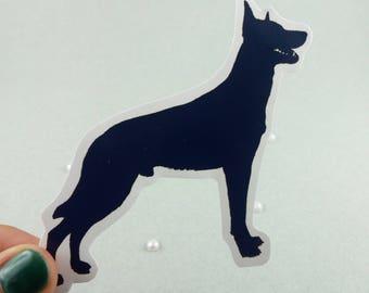 "Big sticker ""Malinois"" silhouette"