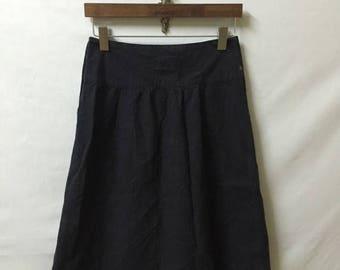 "25% DROP 45rpm Dark Blue Skirt Size 2 Waist 27"" Side Button logo Rare Junya Watanabe Comme Des Garcons CDG Yohji Yamamoto Issey Miyake"