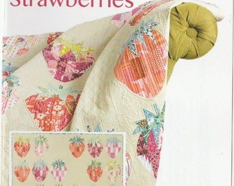 SALE** Mod Strawberries - Wall Hanging or Lap Quilt Pattern - Sew Kind of Wonderful