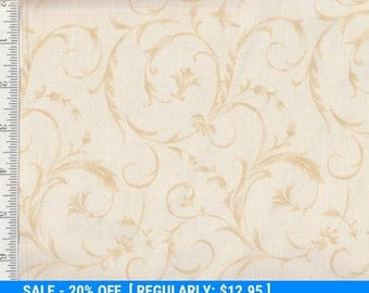 "SALE! 108"" WIDE - Per yd - Maywood - Beautiful Backings - Cream w/ Light Golden Swirls"