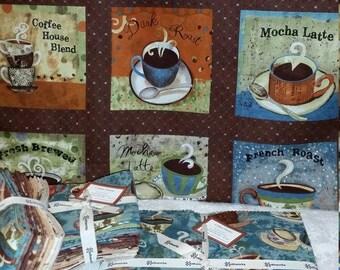 SALE! Coffee House - Charm Pack - Clothworks by Sue Zipkin