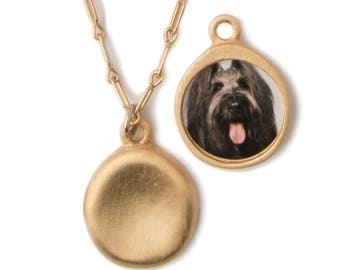 Personalized Gold Pet Charm Necklace
