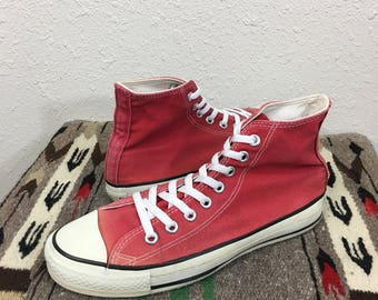 90's vintage converse chuck taylor hi top canvas sneaker made in usa size 8