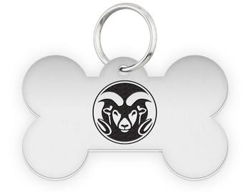 Colorado State University Rams Dog Tags | Pet Tags | Cat Tags | Necklace | College Pet Tags