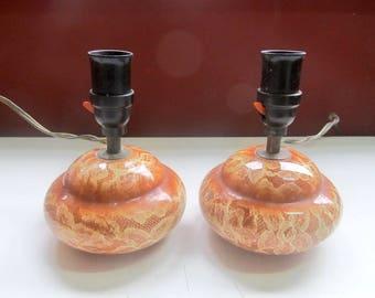 A Pair of Mid Century Ceramic Lamps