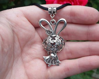Girl bunny necklace