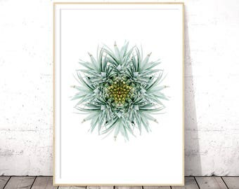 Abstract Pineapple Print, Tropical Fruit Decor, Tropical Art, Digital Download Art, Printable Poster, Modern Minimalist, Pineapple Wall Art