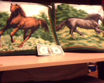 horse pillow pair