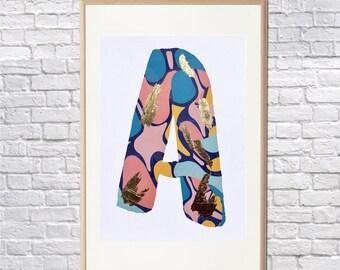 Modern Alphabet Print • Cool Letter Print • Office Art Print • Cool Art • Digital Art Print • Gift Print • Cool Art Print • A4 • Nursery