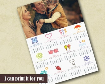 Customized Family Photo Calendar Printable Calendar Photographer PSD Template Custom 2018 Poster Calendar Template Photo Calendar Template