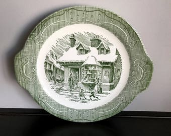 Royal China Co. (USA)  Old Curiosity Shop Cake Plate