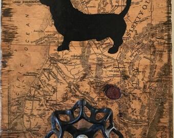 Dog Leash Holder-Bassett Hound