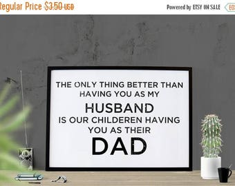 SALE Father's Day Gift Husband Dad Poster Instant Download Husband Poster Print Dad Gift for Dad Gift for Fathers For Him Men Cave Printable