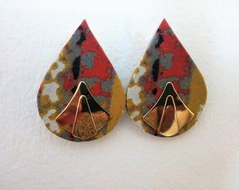 Tear drop Ankara Earrings|African Earrings|Ankara Jewelry|Afro Earrings|Fabric Earrings|Ethnic Earrings|Ankara drops|Valentine gift|African