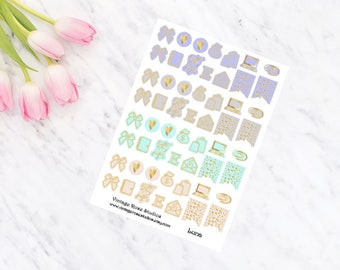 Luna Foiled Icons Planner Stickers with Gold, Rose Gold or Silver for All Planner Types Erin Condren, Kate Spade, FiloFax, Inkwell