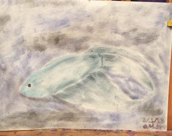 Makeup fish-makeup on sketch paper