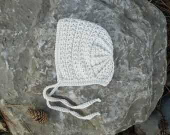 Vintage Star Bonnet - Baby Bonnet - Crochet Star Bonnet - Crochet Bonnet - Baby Hat - Vintage Inspired - Baby Shower Gift Idea - Star Bonnet