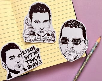Dave Gahan/ Depeche Mode/ Stickers/ Sticker Pack/ Laptop Stickers/ Planner Stickers