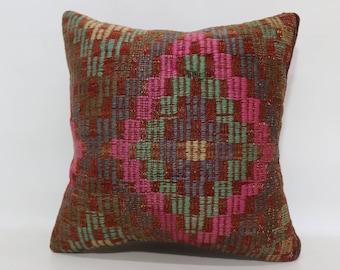 Embroidered Kilim Pillow Sofa Pillow Ethnic Pillow 20x20 Handwoven Kilim Pillow Floor Pillow Decorative Throw Pillow Cushions SP5050-1831