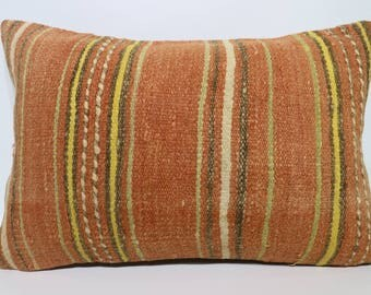 16x24 Lumbar Kilim Pillow Bedroom Kilim Pillow 16x24 Handwoven Kilim Pillow Decorative Kilim Pillow Cushion Cover SP4060-1069