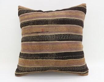20x20 Pillows Striped Pillows Rustic Pillows Handmade Sham Turkish Pillows Big Throw Pillows Large Cushion Cover Kilim Pillows SP5050-2603