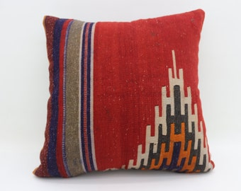 Decorative Kilim Pillow Sofa Pillow 20x20 Geometric Desing Kilim Pillow Sofa Pillow Naturel Kilim Pillow Cushion Cover  SP5050-2692