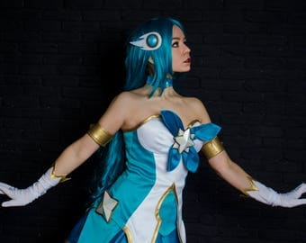 Soraka Star Guardian cosplay costume, League of Legends Video Game outfit