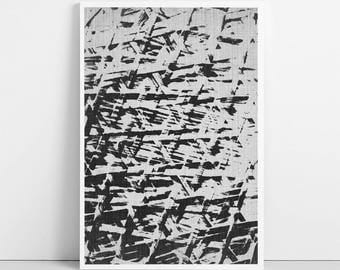 Texture Art Print, Abstract Painting, Black and White Photography, Printable Wall Art Decor, Large Poster, Digital File, Instant Download