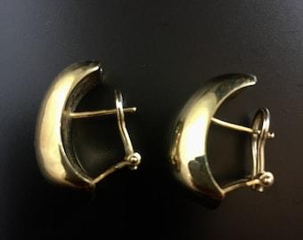 Italian 14K yellow gold earrings