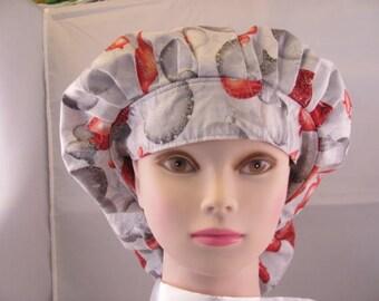 Women's Bouffant Scrub Hat Christmas Ornaments