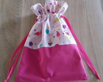 Ice pink patterns personalized pouch.