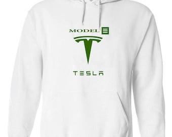 Tesla Model 3 Electric Hoodie (Size: S - 3Xl)