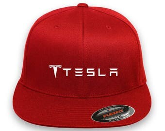 TESLA MOTOR Model 3 Model S Car Flex Fit Hat Cap Baseball Embrodery