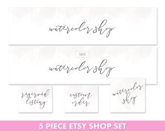 Etsy shop set - Etsy banner set - Etsy cover image - Etsy logo - Etsy shop avatar - Etsy Branding Set - Feminine Etsy Set