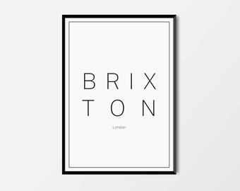 Brixton, London | London Print | London Artwork | London Illustration | Architecture Print | City Print