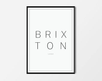 Brixton, London | London Print | London Artwork | London Illustration | Architecture Print | City Print