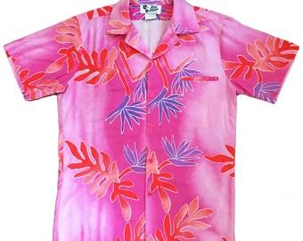 Vintage Men's Bright Cotton Aloha Shirt — Medium