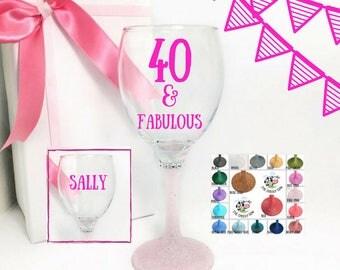40 birthday gift for women, birthday gift 40th birthday gifts for women, 40 wine birthday, 40 wine glasses, 40th birthday women,