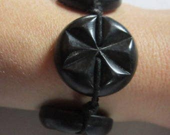 Bracelet black buttons - original creation