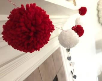 Pom pom garland - shatterproof - christmas decor - pompom - party decor - pom pom decor - holiday decor - wedding decor - pompom - garland