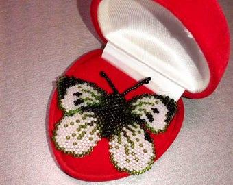 Beaded Brooch beaded butterfly beaded moth bead embroidery beaded butterfly jewelry gift for women Brooch butterfly beaded animals